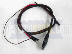 63411 western vehicle side straight blade plow battery cable